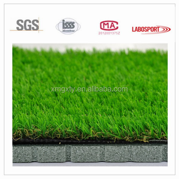 Pile height 15mm-50mm Yarn type PP+PE 3/8 inch Gauge Multi 4 Colors artificial grass for garden