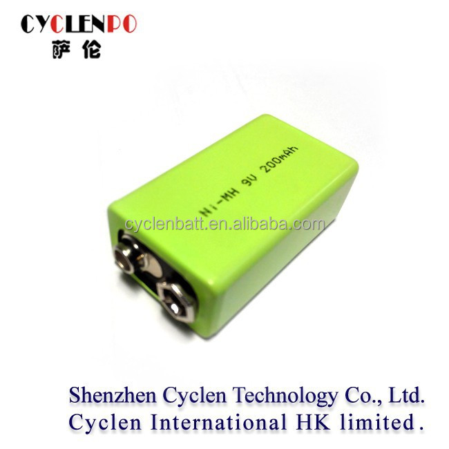 rechargeable nimh battery pack 9v 200mah nimh rechargeable battery 9v 200mah