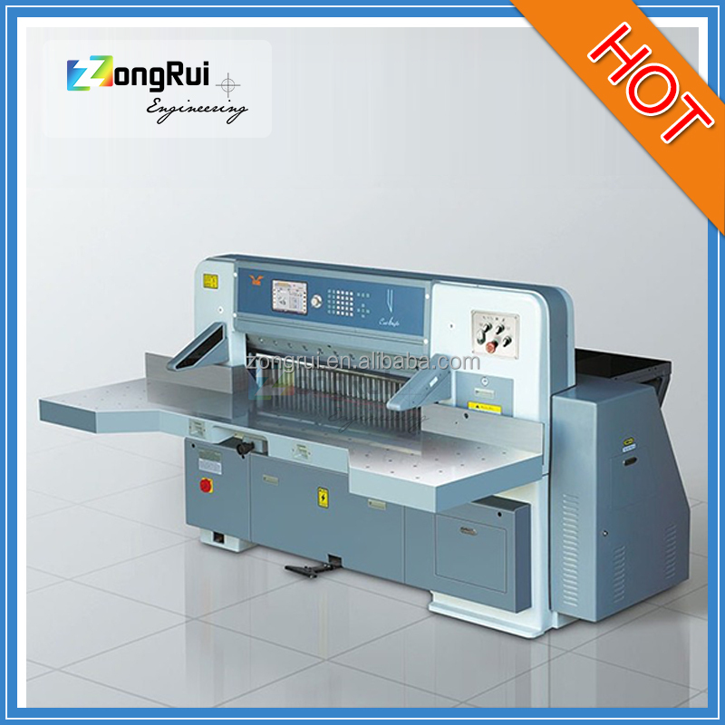 2016 new ZR920DH-10 zongrui Offset printing machine matching equipment digital industrial guillotine paper cutting machine