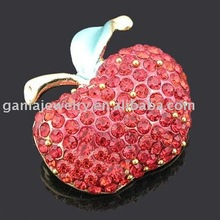 Fashion Fruit Jewelry Red Apple Brooch