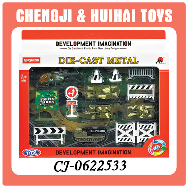 1:72 die cast toys military vehicle set metal tank model