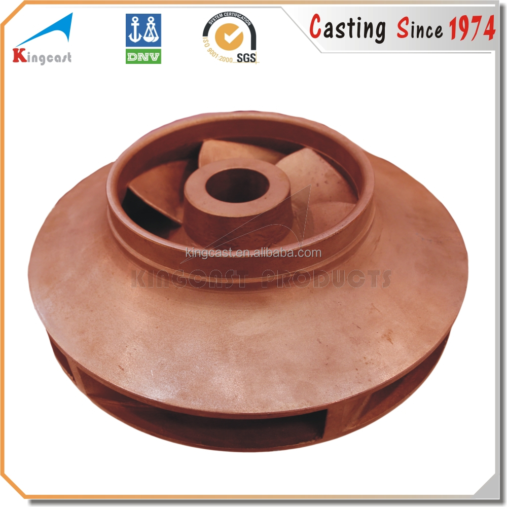 OEM custom brass rotary casting water pump parts impeller