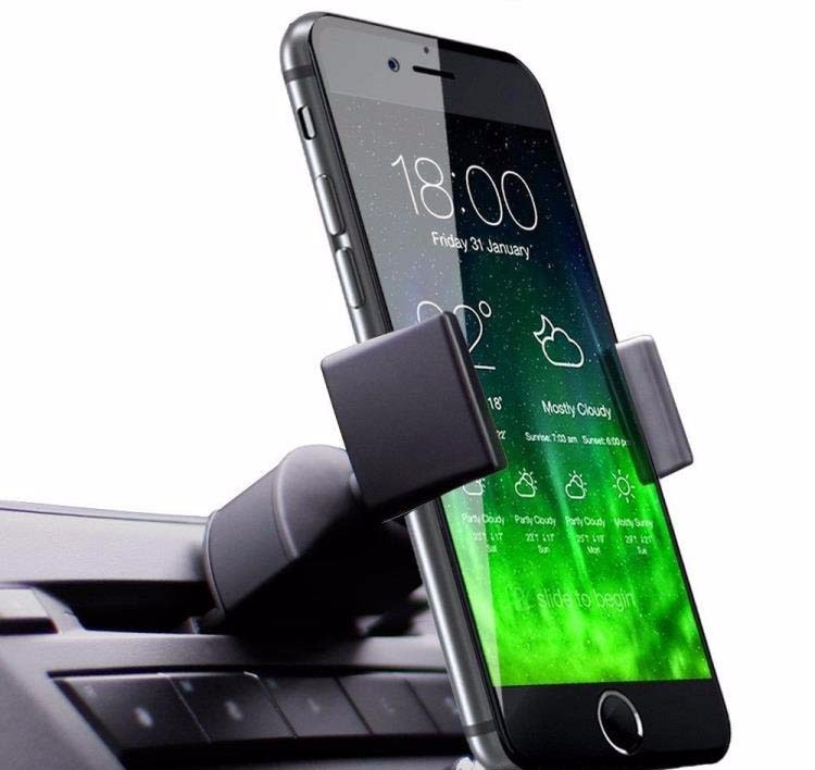 360 degree rotating stent air vent 3 in 1 phone holder cradle Car vent clip car holder for mobile phone GPS crocodile