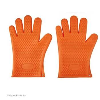 Heat Resistant Cooking Silicone BBQ Gloves