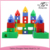 Kid's colorful city construction big plastic building blocks toys