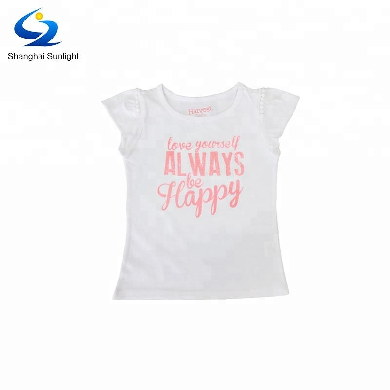 Latest New Model Cotton Baby Girl Beautiful Short Sleeves T Shirt