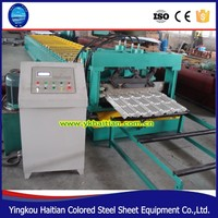 Most Popular Color Sheet Steel Metal Glazed Tile Step Roof Roll Forming Machine