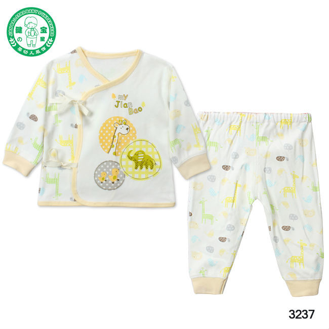 #3237** 100% organic cotton clothing Sets for newborn baby, long sleeve baby clothes, kids clothes