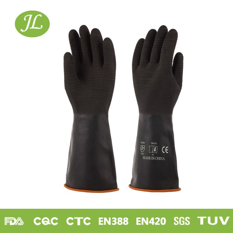 Odorless black S/M/L/XL industrial chemical gloves