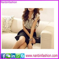 Nanbinfashion newest Flower and black casual dress for ladies