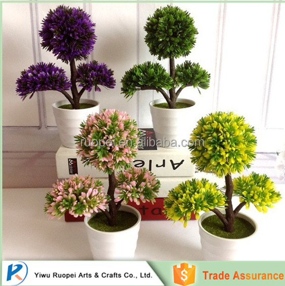 China Small Artificial Topiary Potted Plant Ornamental
