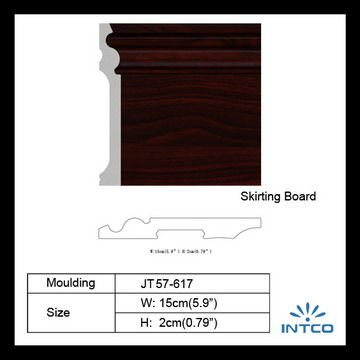 Lightweight Mahogany Skirting Board/Baseboard/Floor Molding