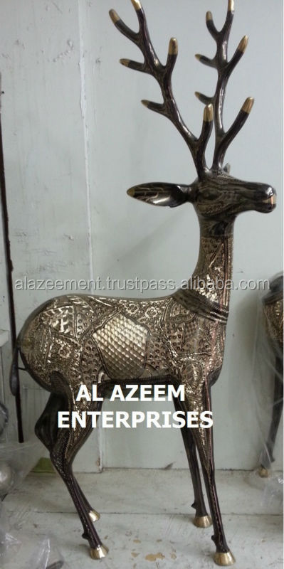 Hand Made Swamp Deer / Barasingha Brass crafts Pakistan For Home & Office Decor / Brass handicrafts / Best Gift