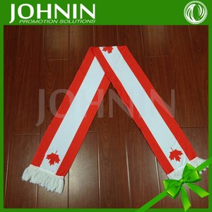 Factory OEM service double layers muffler Canada flag scarf