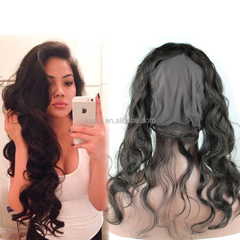 360 Lace Frontal With Wig Cap Peruvian Body Wave Hot Hair Frontal Natural Hairline 360 Lace Virgin Hair