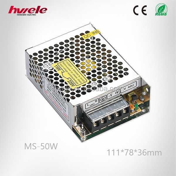 MS-50W MINI switching power supply with SGS,CE,ROHS,TUV,KC,CCC certification