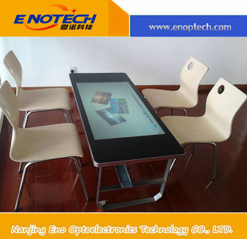 Good price of self adhesive interactive transparent touch screen smart table for advertisement