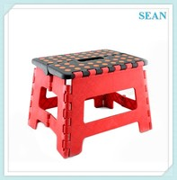Custom Logo plastic foldable stools with non-slip mat ningbo sean
