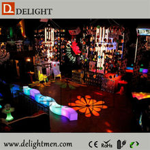 Illuminated Glow Floor Protectors pub chairs and tables with led