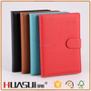 Multi color pu leather magnet wholesale cheap popular stationery notebook