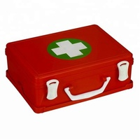 Orange /red Empty ABS first aid box plastic medical tool 30x22x11.5cm