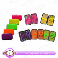 6pcs mini NEON color manicure set