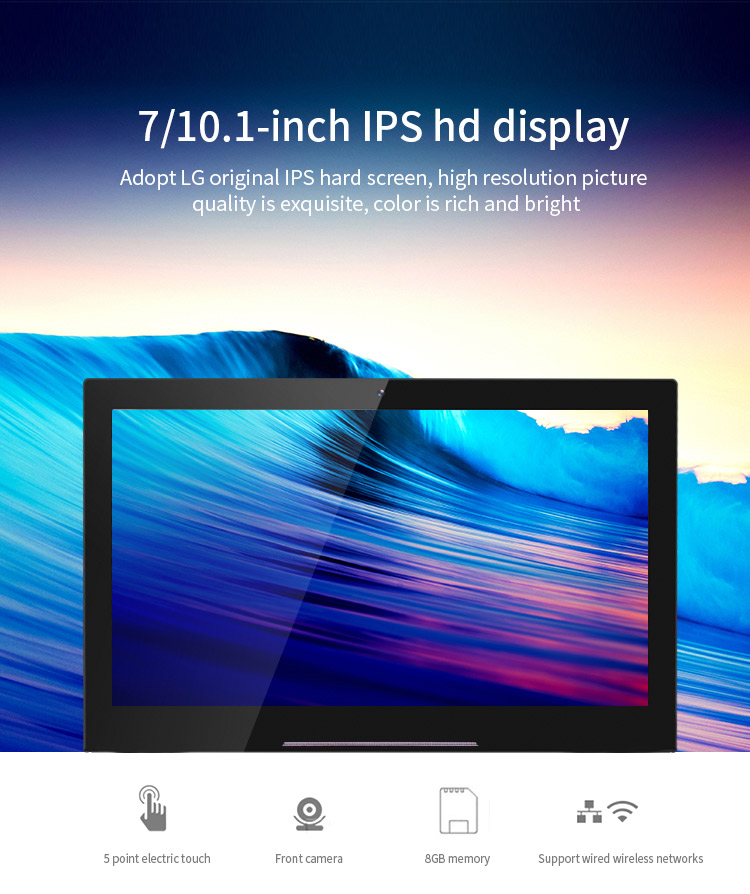 OEM Logo ips wall mounted android 6.0 7 inch digital signage display tablet pc
