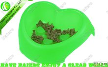 Pet Medium heart-shaped three stakes bowl P660: