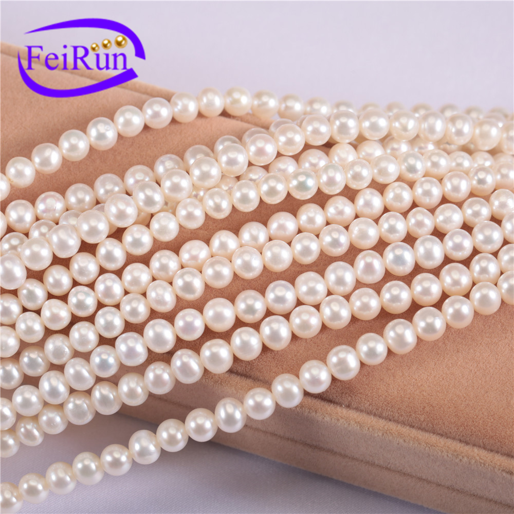 5mm AAA best quality near round natural freshwater pearl bead string