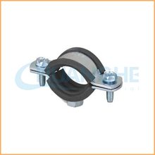 China manufacture best quality p type steel pipe/clip with fixing rubber clamp