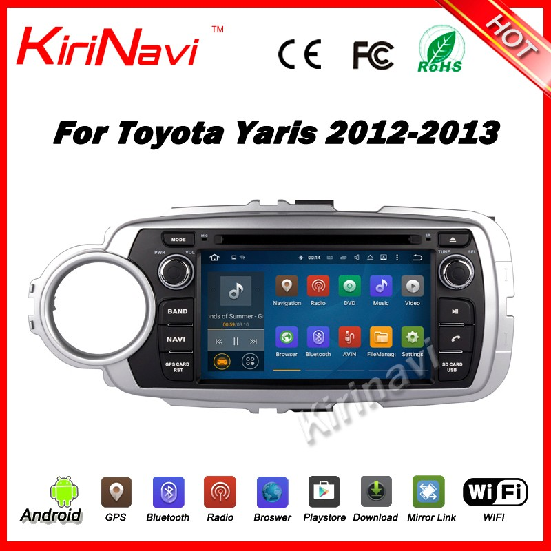 Kirinavi WC-TY7052L android 5.1 car multimedia for toyota yaris 2012 2013 android car dvd player stereo wifi & 3G