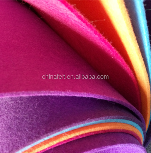 wholesale nonwoven 100% polyester colorful fabric felt 3 mm