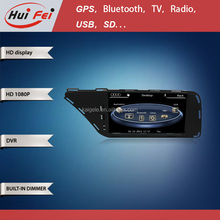 Huifei Wince6.0 car dvd player for Audi A4L/Q4 with similar Audi UI ,support DVD/Bluetooth/GPS function