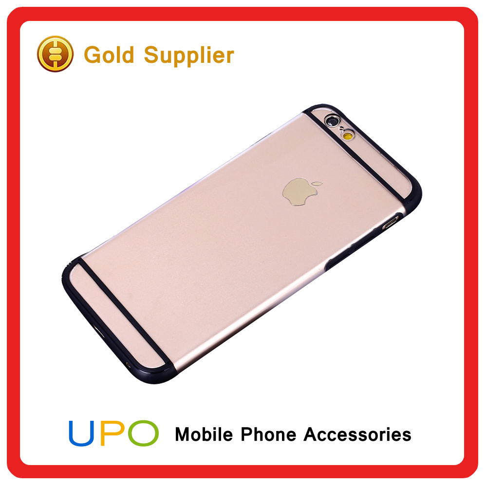 [UPO] High Quality Slim Double Color line Tranparent TPU PC Mobile Phone Cover Case for Iphone 6