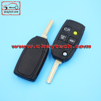 High Quatity Volvo flip remote key shell Car Key Volvo flip 4 button remote key shell