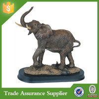 elephant collectible wildlife animal sculpture model resin elephant figurine for sale
