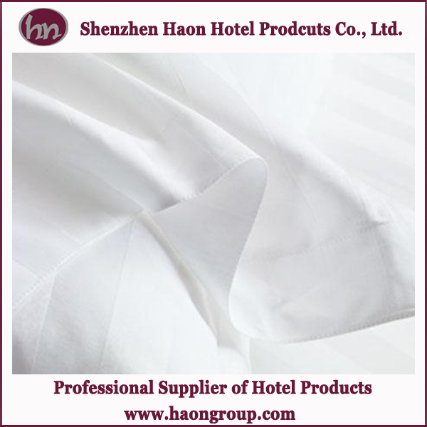 hotel customized size stripes satin bed linens wholesale