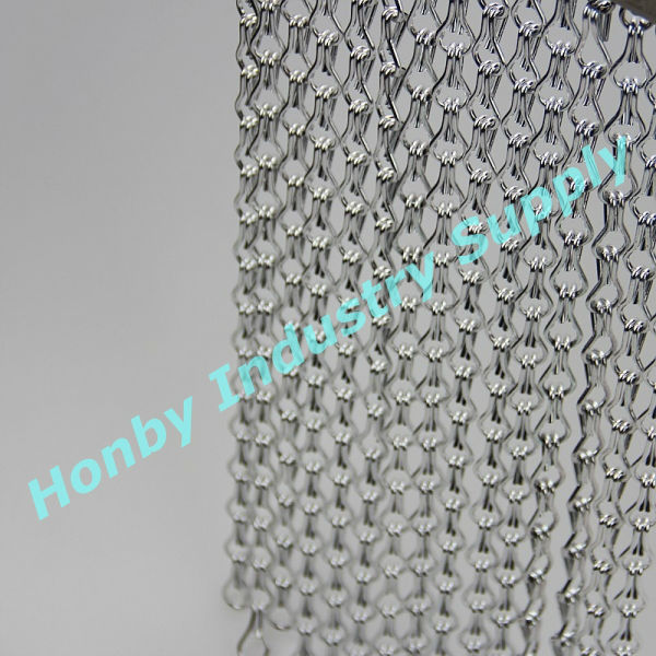 Silver shiny 12mm aluminum strings hanging metallic curtain