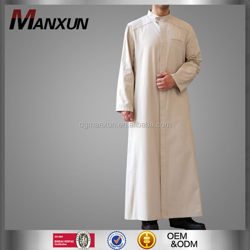 Full length abu bakr jubba muslim robe men new style islamic muslim men thobe