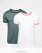 Plain 95 cotton /5 elastane no brand t-shirt manufacturers in usa