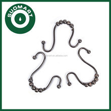 Bathroom Shower Curtain Tracks Hooks Shower Double Glide Rings Oil Rubbed Bronze Finshed