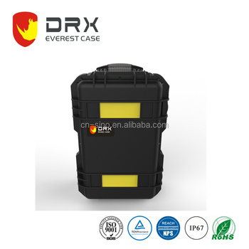 Hard plastic carrying safety equipment Flight case