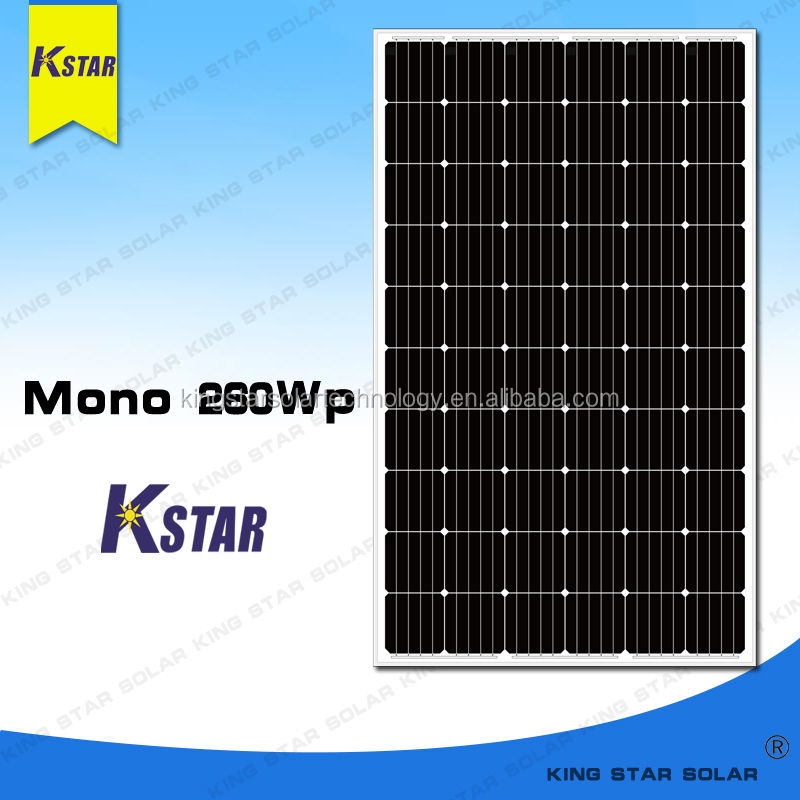 Top manufacturer Kingstar Mono 260w 250w solar panel for home solar system