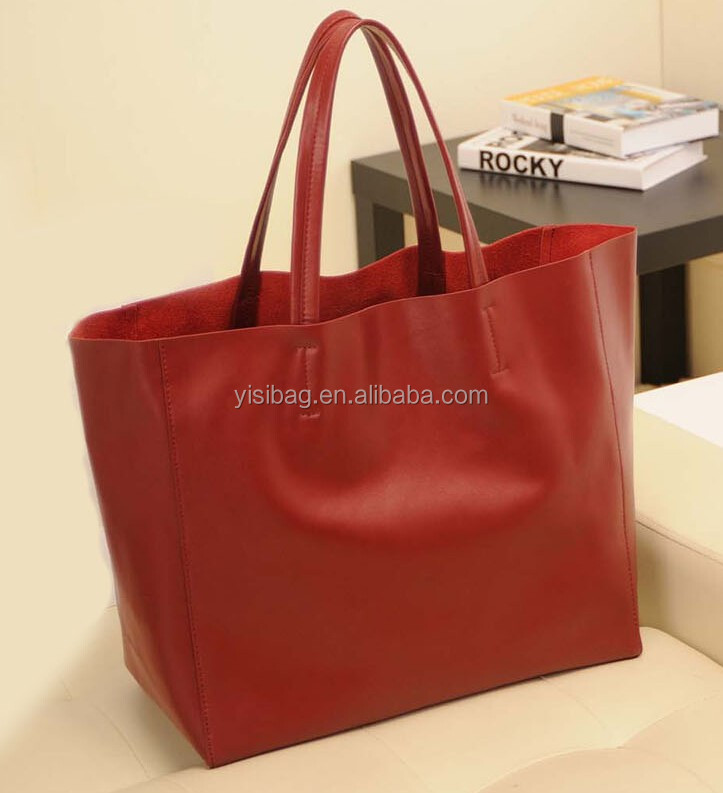 wine red ladies cow leather bag