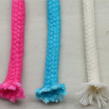 Wholesale Full colored braid hollow cotton rope