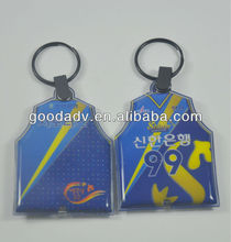 2013 good advertising gifts plastic pvc led keychain