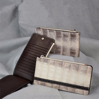 Luxury High-end Genuine Crocodile Leather Business Women Card Holder Wallet