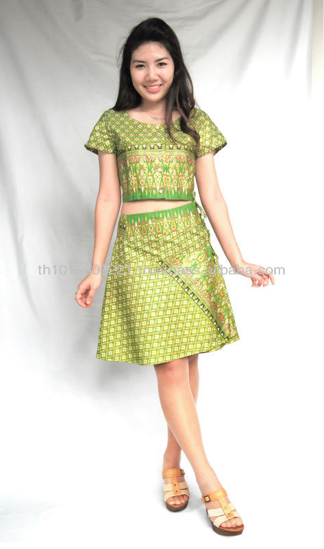 Modern Thai Lanna fashion dress