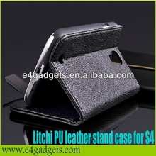 Wholesale Luxury Litchi vein leather marc jacobs case for samsung galaxy s4 i9500