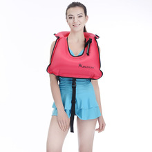 Adult Inflatable Life Snorkeling Vest Jacket Great for Snorkeling Surfing Swimming Boating Kayaking Fishing Rafting and Floatin